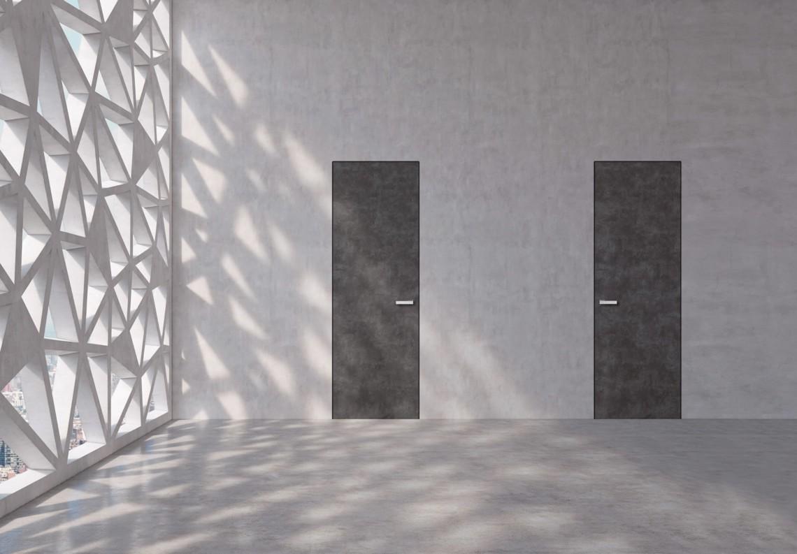 Flush door bakelite stone effect with Barausse Secret Frame