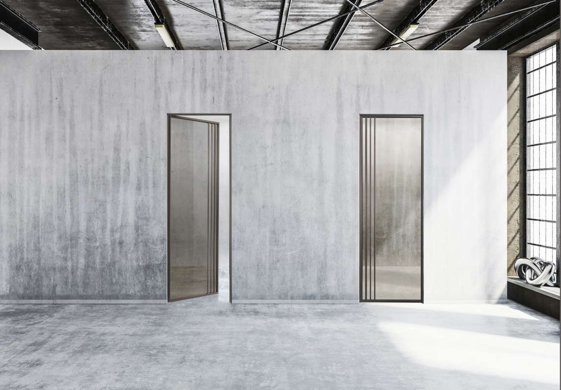 Two aluminium glass doors TIP industrial style