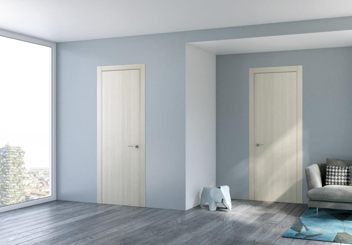 Porte moderne a battente Feel in essenza legno brina