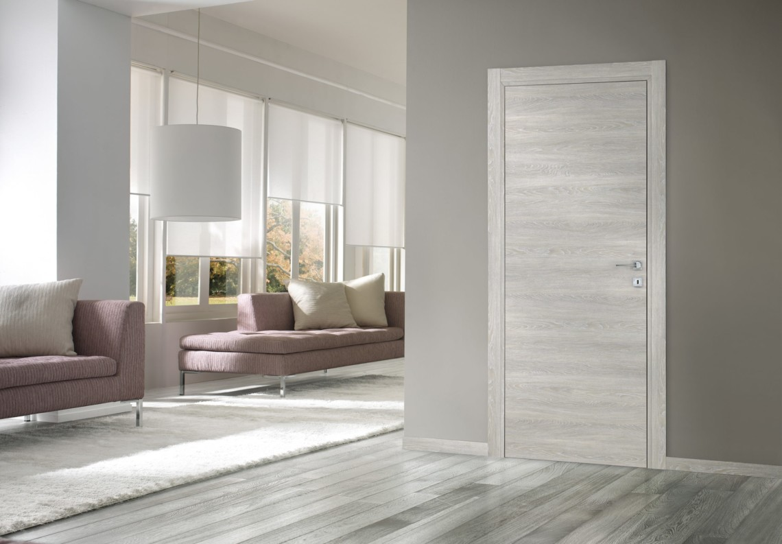 Porte moderne a battente Feel in essenza legno perla